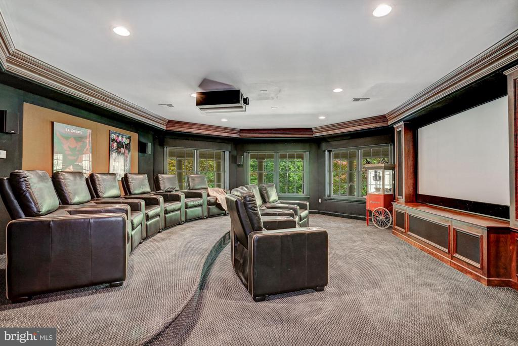 Large theater with seating for 10 - 7984 GEORGETOWN PIKE, MCLEAN