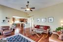 Spacious Family Room with gas fireplace - 43328 MARKHAM PL, ASHBURN