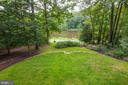 View From Back Deck of The Yard & Lake - 5322 BLACK OAK DR, FAIRFAX