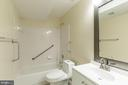 In-Law Suite Bathroom - 21337 CLAPPERTOWN DR, ASHBURN