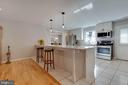 Lots of room to eat at the kitchen island - 1017 TYLER ST, HERNDON