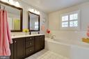 Master Bath-two sink vanity-separate tub - 1017 TYLER ST, HERNDON