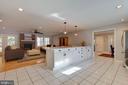 Immense kitchen island separating FR and kitchen - 1017 TYLER ST, HERNDON