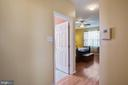 Hallway to master bath, master bedroom - 11731 LEGACY WOODS DR, FREDERICKSBURG