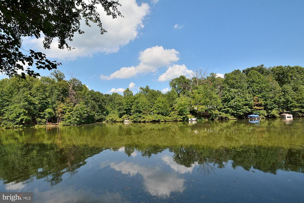 Lake view of Lake Audobon -from  ground level - 2524 BRENTON POINT DRIVE, RESTON