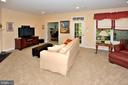 Large Rec Room with access to lower deck - 2524 BRENTON POINT DRIVE, RESTON