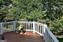 Private Deck with  great views of trees - 2524 BRENTON POINT DRIVE, RESTON