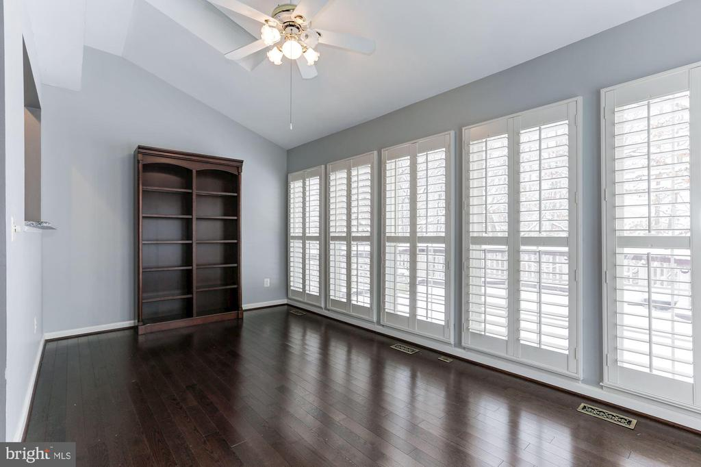 Sunroom with Plantation Shutters and Skylights - 43127 LLEWELLYN CT, LEESBURG