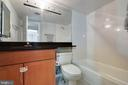 Second Bath  - Ceramic and Granite - 2230 GEORGE C MARSHALL DR #327, FALLS CHURCH