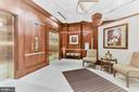 Lobby with direct access to parking garage - 38 MARYLAND AVE #214, ROCKVILLE