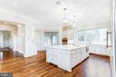 Gourmet chef's kitchen with marble counters - 833 HERBERT SPRINGS RD, ALEXANDRIA