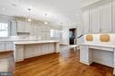 Kitchen with built-in workstation - 833 HERBERT SPRINGS RD, ALEXANDRIA