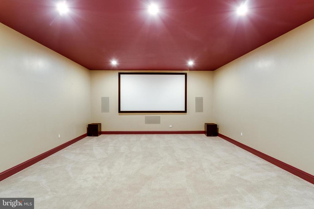 Walk-out lower level includes home theater - 833 HERBERT SPRINGS RD, ALEXANDRIA