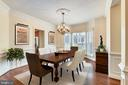 Beautiful dining room with large bay window - 16600 FERRIERS CT, LEESBURG