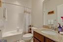 Upgraded tile bath w/ granite top vanity - 601 FOX RIVER HILLS WAY, GLEN BURNIE