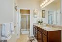 Upgraded owners tile bath w/ granite top vanity - 601 FOX RIVER HILLS WAY, GLEN BURNIE