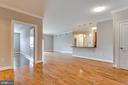View from dining area into living room - 6301 EDSALL RD #124, ALEXANDRIA