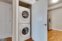 Stacked Washer/Dryer in Unit - 6301 EDSALL RD #124, ALEXANDRIA