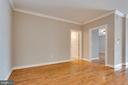 View from front door into dining area - 6301 EDSALL RD #124, ALEXANDRIA