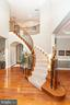 Oak Staircase with Ornate Metal Pickets - 43341 CEDAR POND PL, CHANTILLY