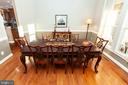 Formal Dining Room - 43341 CEDAR POND PL, CHANTILLY