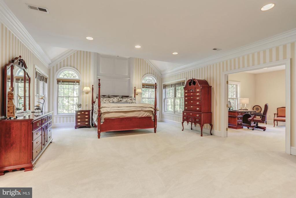 Spacious master bedroom - 11102 DEVEREUX STATION LN, FAIRFAX STATION