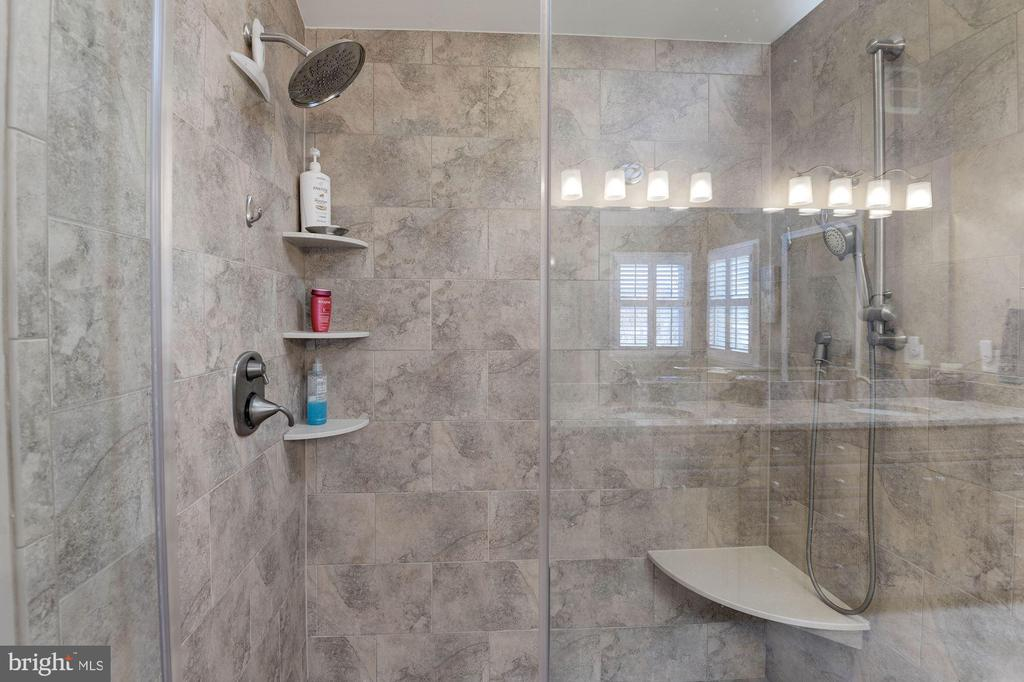 New Tiled Shower with Seamless Glass - 1326 MURRAY DOWNS WAY, RESTON
