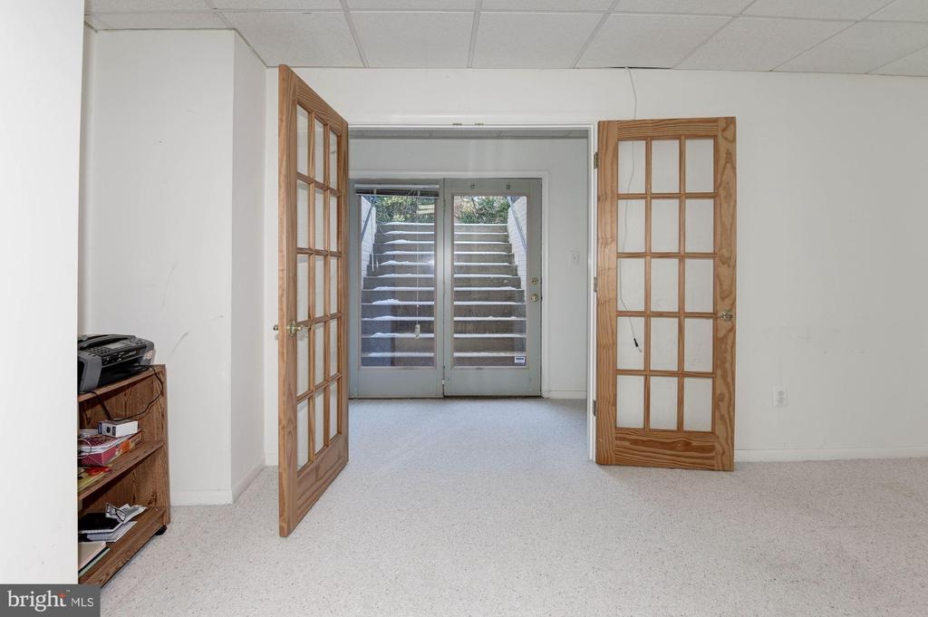 Lower Level Bonus Room with French Doors - 1326 MURRAY DOWNS WAY, RESTON