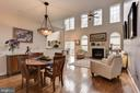 living roomwith gas fireplace.  Lots of light. - 8830 WARM GRANITE DR DR #51, COLUMBIA