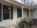 Front covered porch - 8809 MILLWOOD DR, SPOTSYLVANIA