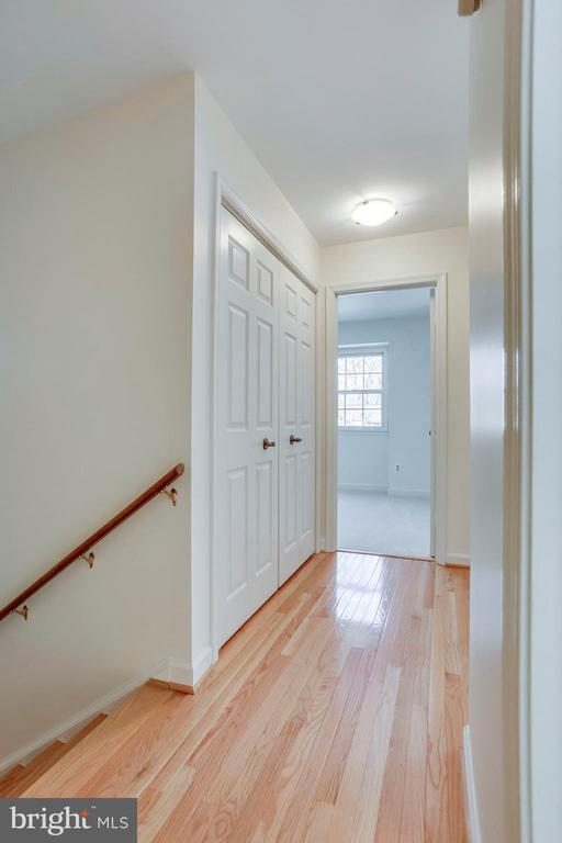Upper Level Hallway with Hardwood Floors - 8911 GLADE HILL RD, FAIRFAX
