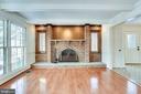 Beautiful Wood Burning Fireplace - 8911 GLADE HILL RD, FAIRFAX