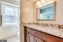 Remodeled Hall Bath - 8911 GLADE HILL RD, FAIRFAX