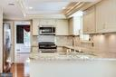 Built In Microwave and Gas Stove - 8911 GLADE HILL RD, FAIRFAX