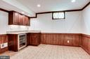 Wet Bar and Beverage Cooler in Rec Room - 8911 GLADE HILL RD, FAIRFAX