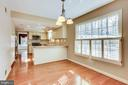 Breakfast Room -Have breakfast and watch the deer - 8911 GLADE HILL RD, FAIRFAX