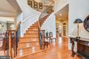 Entry Foyer with Wrought Iron Staircase. - 43547 BUTLER PL, LEESBURG