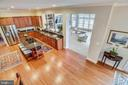 View of Kitchen and Family Room from Stairway - 43547 BUTLER PL, LEESBURG