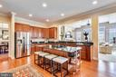 Granite & Stainless Kitchen with 10' Island. - 43547 BUTLER PL, LEESBURG