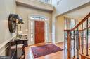 The Entry Foyer has 19' Ceilings and Hardwoods. - 43547 BUTLER PL, LEESBURG