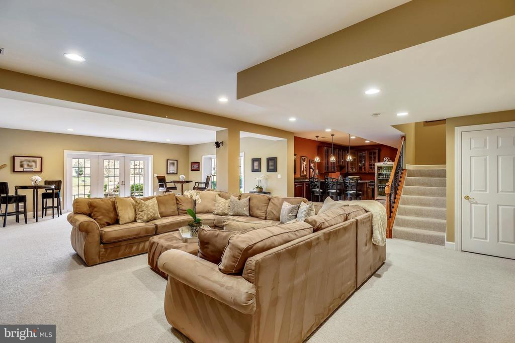 Spacious Lower Level Recreation Room - 43547 BUTLER PL, LEESBURG