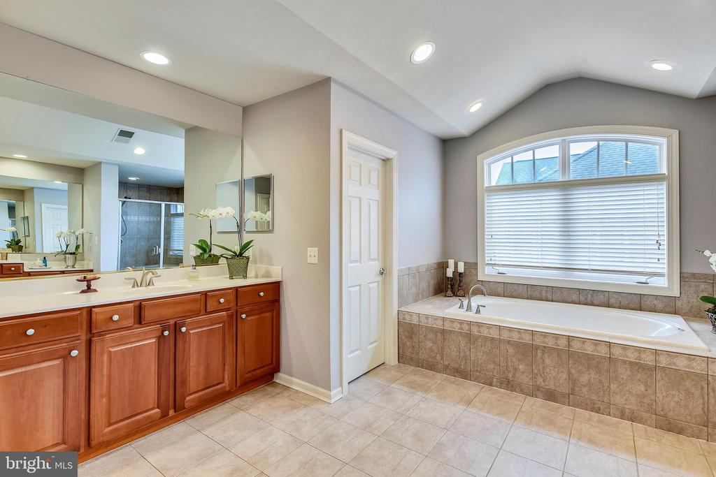 Master Bath Vanity, Water Closet and Soaking Tub - 43547 BUTLER PL, LEESBURG