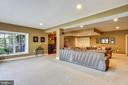 Lower Level Recreation Room measures 23 x 38 feet - 43547 BUTLER PL, LEESBURG