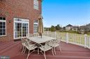 Rear Deck with views of the 11th Fairway - 43547 BUTLER PL, LEESBURG