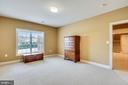 Lower Level 6th Bedroom with adjoining Shower Bath - 43547 BUTLER PL, LEESBURG