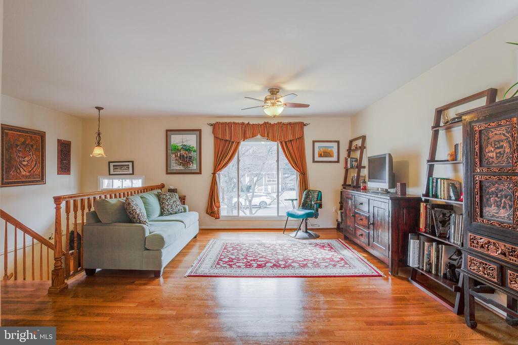 Living room with wood floors - 13131 BEAVER TER, ROCKVILLE