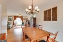 Dining room - 13131 BEAVER TER, ROCKVILLE