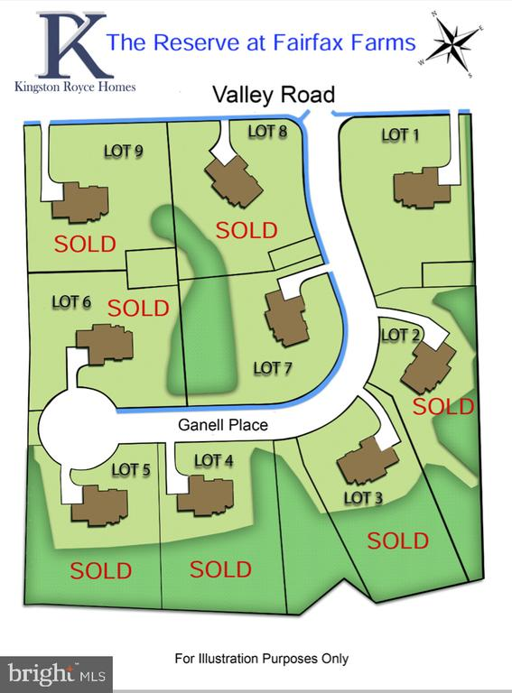 Map of remaining lots - 3859 GANELL PL, FAIRFAX