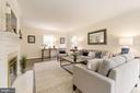 Expansive Family Room with wood burning fireplace - 4960 HILLBROOK LN NW, WASHINGTON