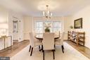 Elegant, spacious Dining Room - 4960 HILLBROOK LN NW, WASHINGTON